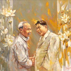 Chủ tịch Hồ Chí Minh và Chủ tịch Kim Nhật Thành