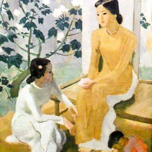 Hai thiếu nữ và đứa bé